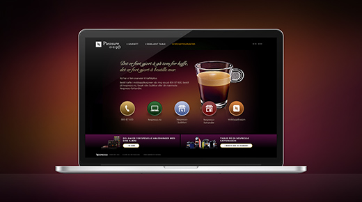 Nespresso website